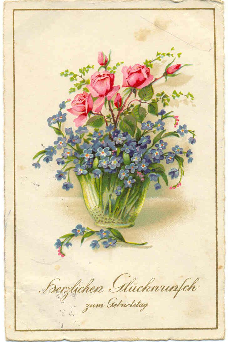 Язык цветов старинные открытки 77